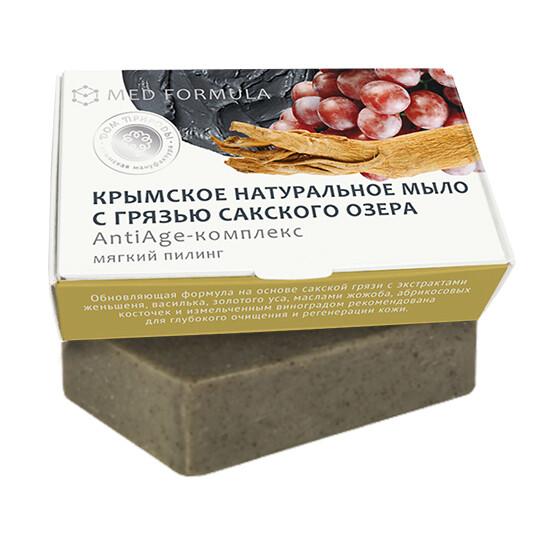Крымское натуральное мыло грязевое MED formula «АntiАge-комплекс», Дом Природы
