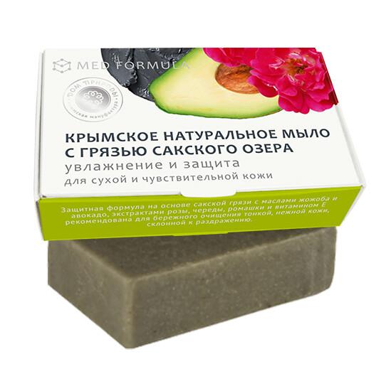 Крымское натуральное мыло грязевое MED formula «Смягчение и восстановление», Дом Природы