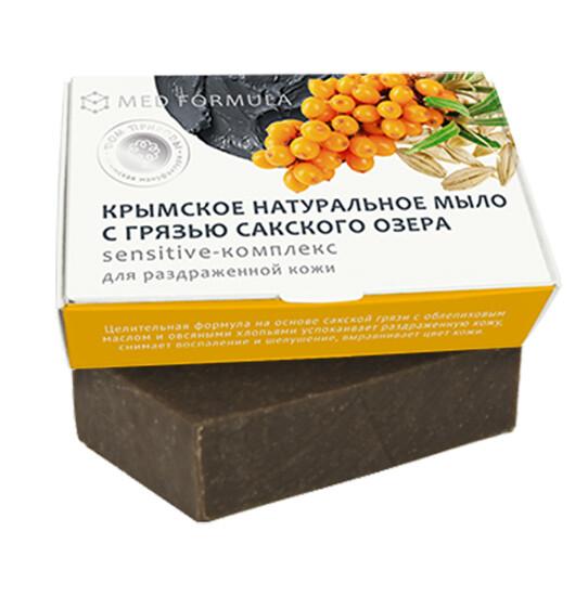 Крымское натуральное мыло грязевое MED formula «Sensitive-комплекс», Дом Природы