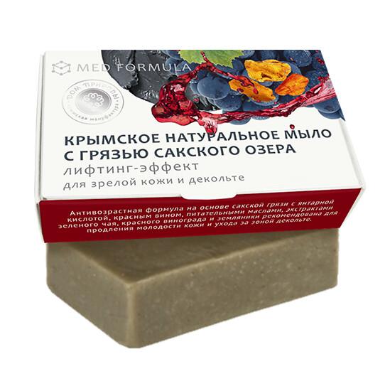 Крымское натуральное мыло грязевое MED formula «Лифтинг-эффект», Дом Природы