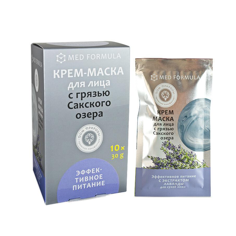 """Крем-маска с Грязью Сакского озера """"Эффективное питание"""", Дом Природы"""