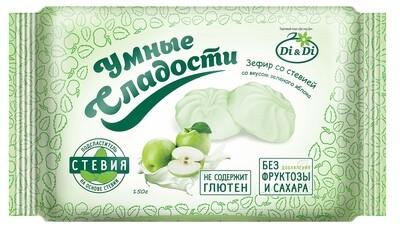 Зефир «Умные сладости» со вкусом зеленого яблока 150г