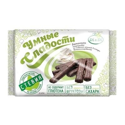 Батончики безглютеновые «Умные сладости» со сливочной начинкой, в глазури, витаминизированные 110г