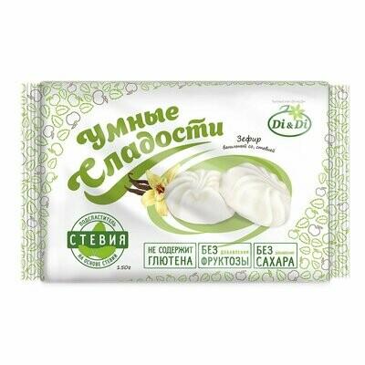 Зефир «Умные сладости» ванильный со стевией 150г