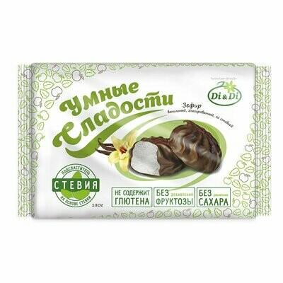 Зефир «Умные сладости» ванильный, глазированный, со стевией 180г