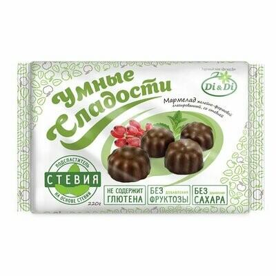 Мармелад «Умные сладости» желейный в шоколадной глазури 220г