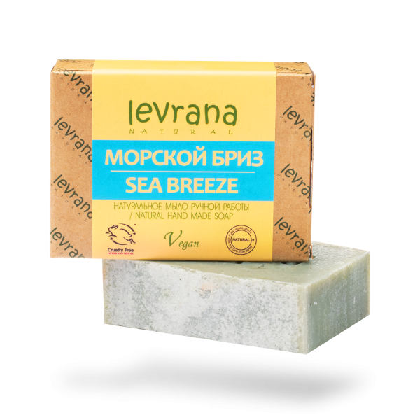 """Натуральное мыло ручной работы """"Морской бриз"""", Levrana"""