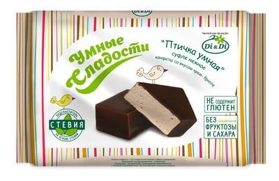 Конфеты «Птичка Умная» суфле нежное со вкусом крем-брюле, 215г