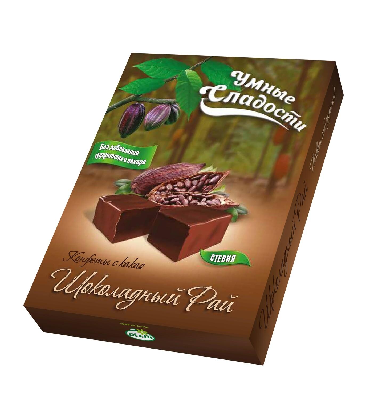 Конфеты «Умные сладости» с какао «Шоколадный Рай» 90г