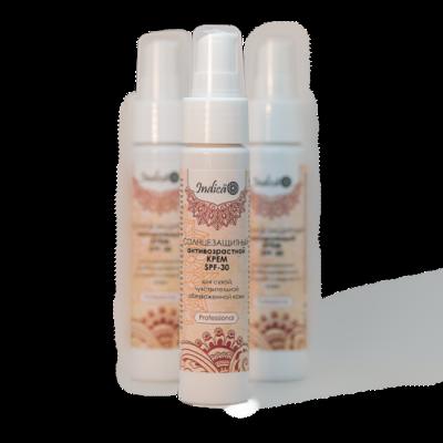 Солнцезащитный антивозрастной крем SPF30 для сухой, чувствительной и обезвоженной кожи. v.i.Cosmetics