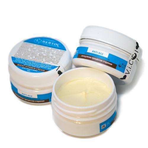 Ночной антивозрастной крем с витаминным комплексом. v.i.Cosmetics