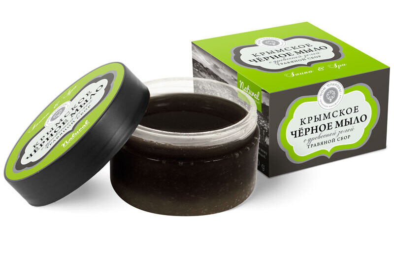 Крымское чёрное мыло Травяной сбор. 270 г, Дом Природы