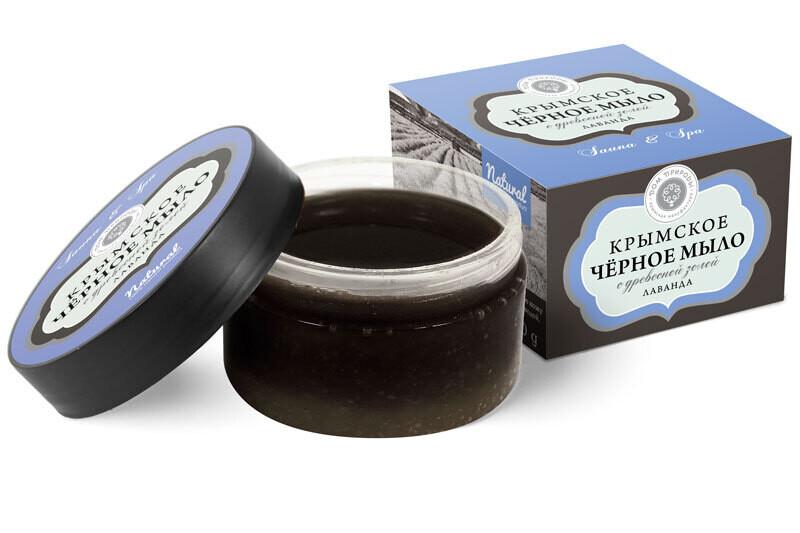 Крымское чёрное мыло Лаванда, 270 г, Дом Природы