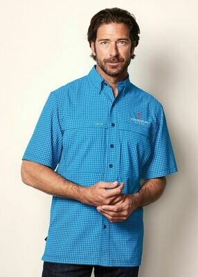 GameGuard Men's Tek Check Short Sleeve Shirts - Available in 2 colors.