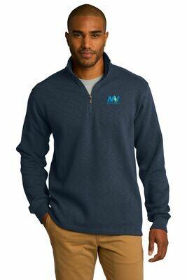 Port Authority® Slub Fleece 1/4-Zip Pullover