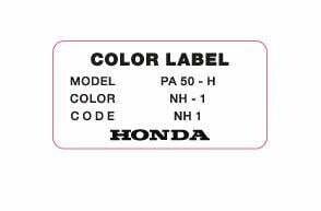 Color Label NH-1 Black