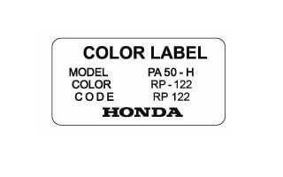 Color Label RP 122 Brugge Purple