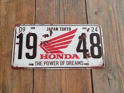 Honda Retro Metal Sign 1948