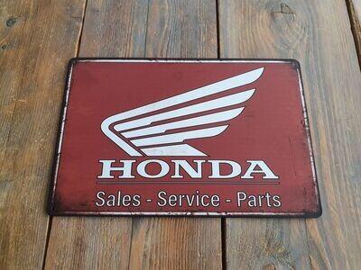 Honda Retro Metal Sign