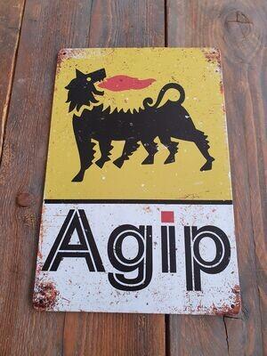 Agip Retro Metal Sign
