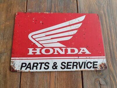 Honda Parts & Service Retro Metal Sign