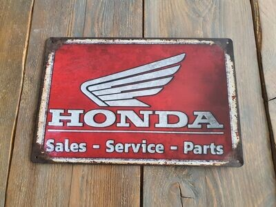 Honda Sales Retro Metal Sign
