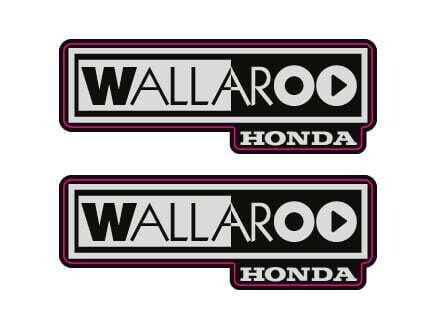 2002-2003 Honda Wallaroo Logo Set 1