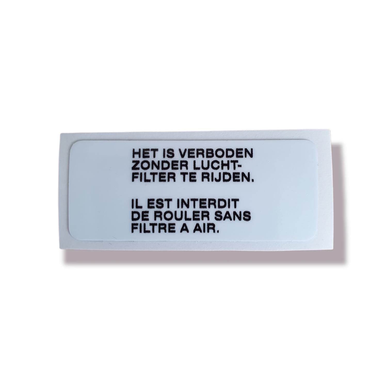 Decal Caution Airfilter Swingarm