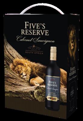 Five's Reserve Cabernet Sauvignon 3L Bag in box