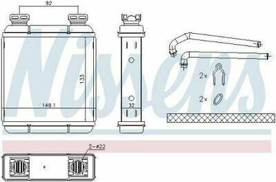 Радиатор отопления Smart Fortwo 451