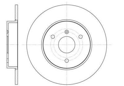 Передние тормозные диски Smart Fortwo 450 (REMSA)
