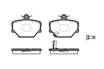 Передние тормозные колодки Smart Fortwo 450 (REMSA)