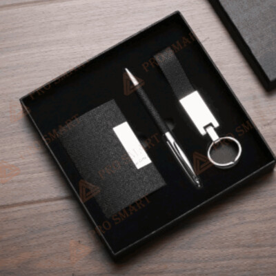 Gift Set (Ball pen, Name card holder and Keychain)