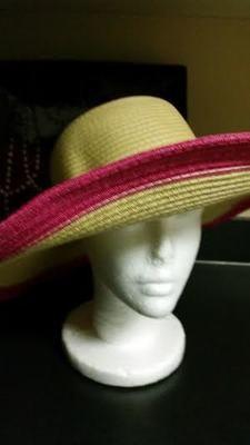 Wide Brim Straw Beach Hat