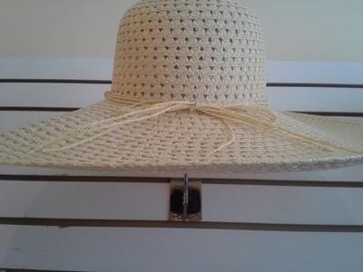 Cream Wide Brim Summer Hat