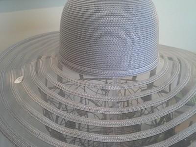 Gray Wide Brim Summer Hat