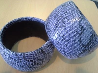 Purple Snakeskin Bracelets