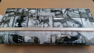 Oblong, Hard Cover Magazine Clutch