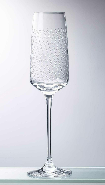 Rippstiel Sektglas