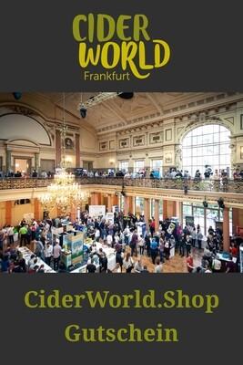 CiderWorld.Shop Gutscheinkarte