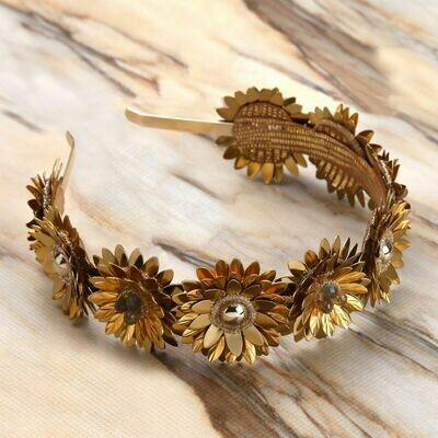 DEEPA GURNANI Stormi Hard Headband in Gold