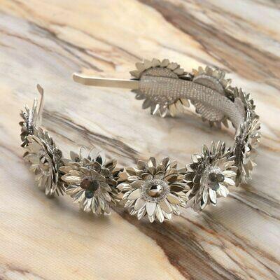 DEEPA GURNANI Stormi Hard Headband in Silver