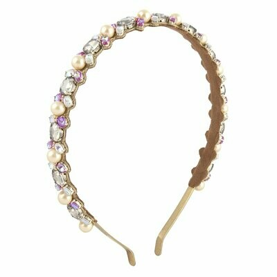 DEEPA GURNANI Monali Headband in Gold