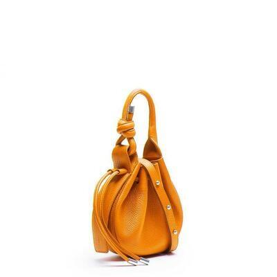 BEHNO Ina Mini Crossbody Pebble Saffron