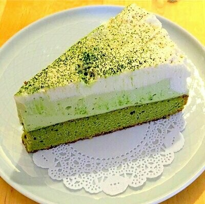 Matcha & White Chocolate Mousse Cake