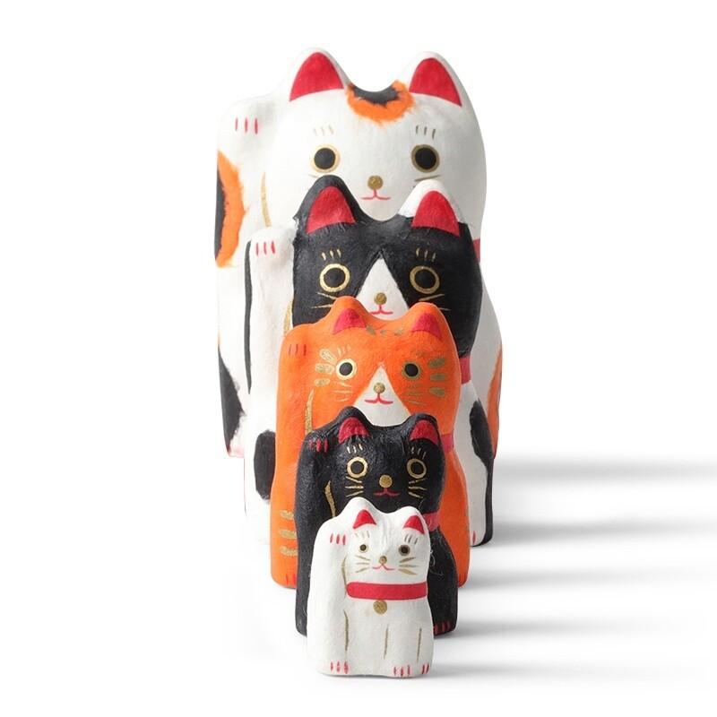 Figurine Fortune Cat Nesting Doll Set 24-153