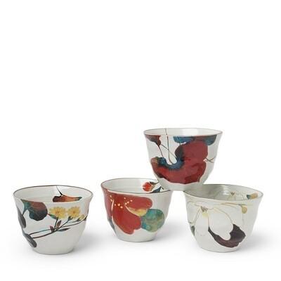 Floral Fall Teacup Set - J5146