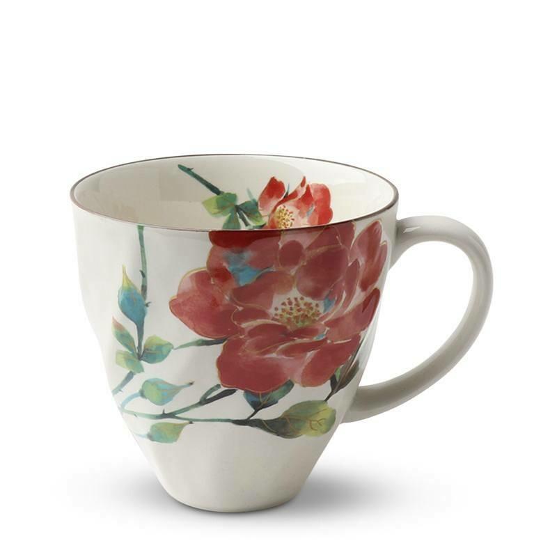 Red Floral Mug - J5096