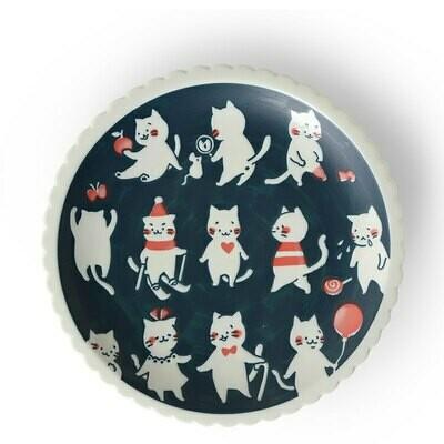 "Cat Life 9.5"" Plate - J5585"