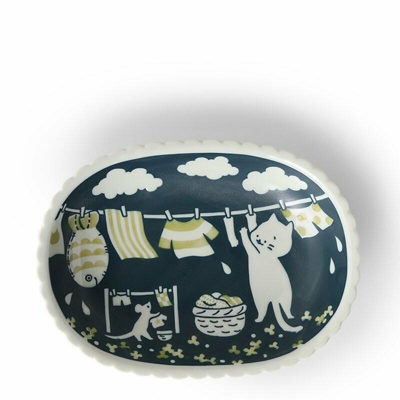 Cat Life Oval Plate - J5592